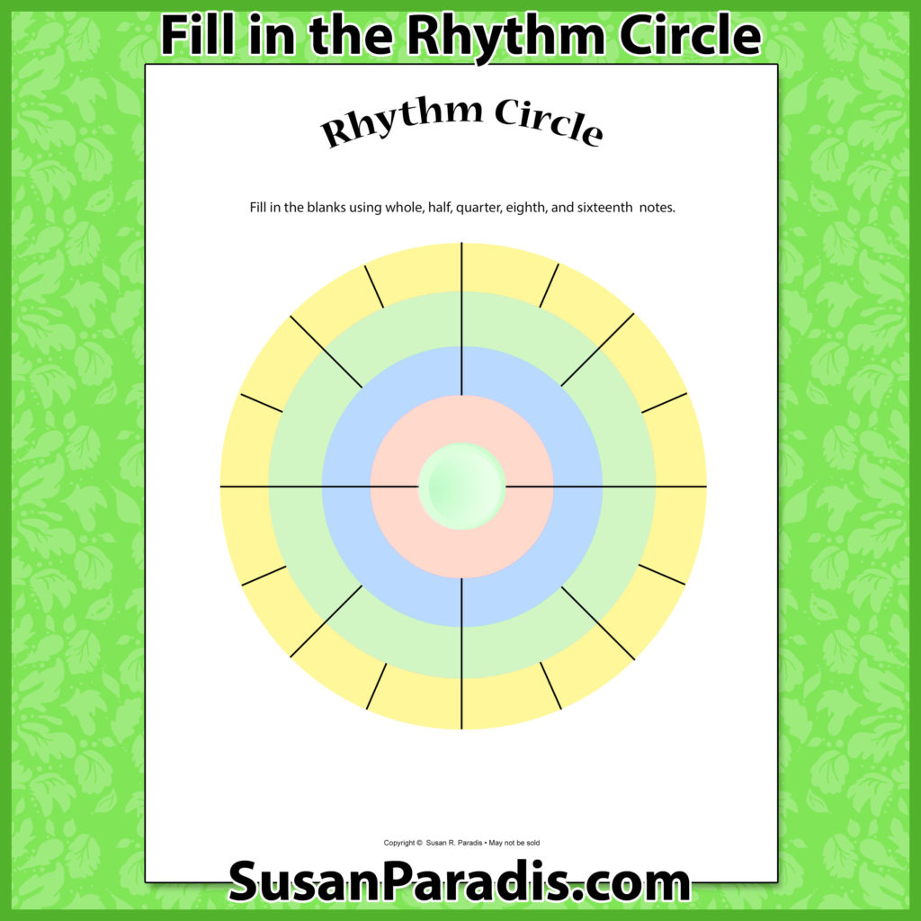 Fill In The Rhythm Values