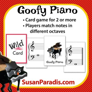 Goofy Piano Card Game