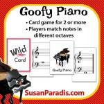 Goofy Piano Card Game