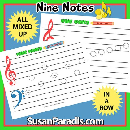 Beginner Note Names: Nine Notes