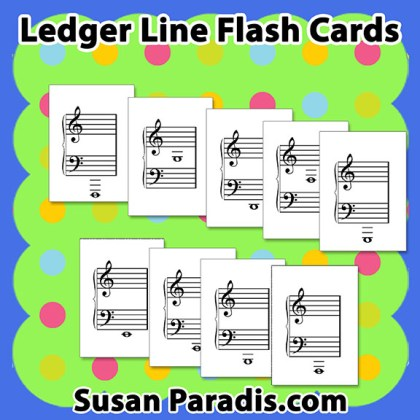 Ledger Line Flash Cards