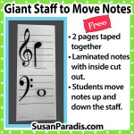 Large Staff to move notes