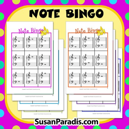 Note Bingo Game