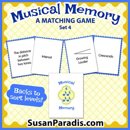 Musical Memory Game Set Four