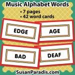 Music Alphabet Words
