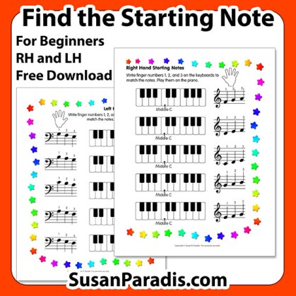 Find the Starting Notes Level 1