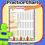 Robot Practice Chart