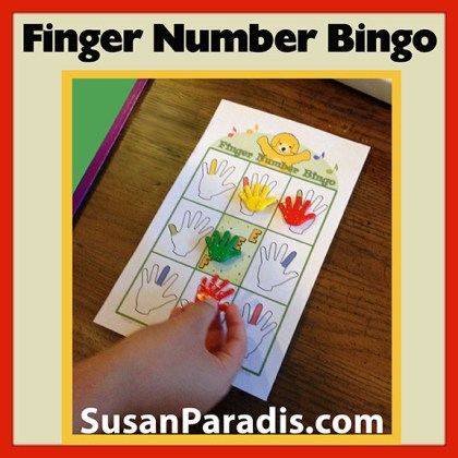 Finger Number Bingo