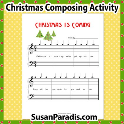 Christmas is Coming Composing Activity