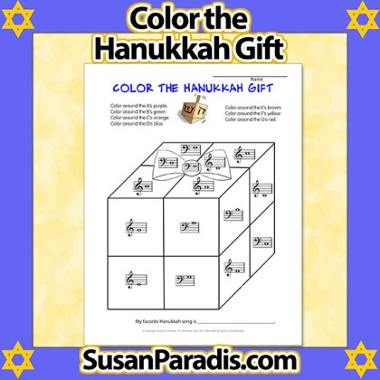 Color the Hanukkah Gift
