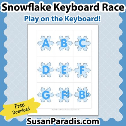 Snowflake Keyboard Race Game