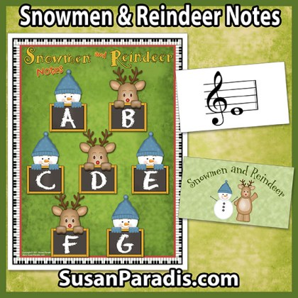 Snowmen and Reindeer Note Game