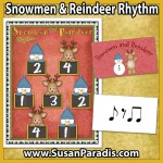 Snowmen and Reindeer Rhythm Game