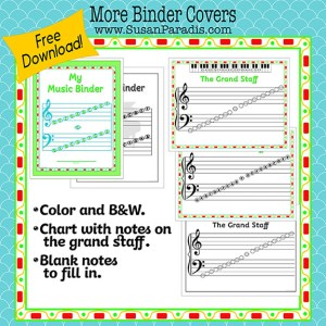 Covers for Student Music Binders