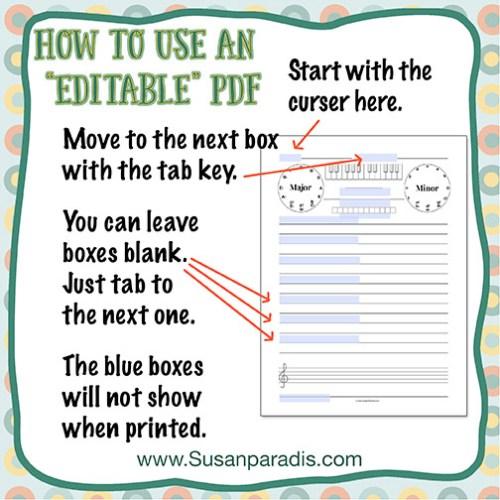 How To Use Editable PDF