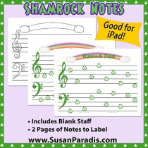 Shamrock Notes - 3 Pages of notes to write with a St. Patrick's Day theme