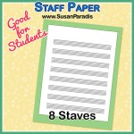 Staff Paper with 8 staves