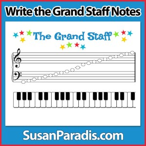 Write the Grand Staff from G to F