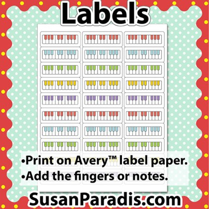 One Octave Keyboard Labels