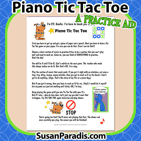 Susan paradis piano teaching resources page 2 of 135 a piano tic tac toe practice aid solutioingenieria Gallery