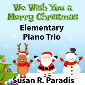 An easy Christmas trio for piano is for elementary or late elementary students.