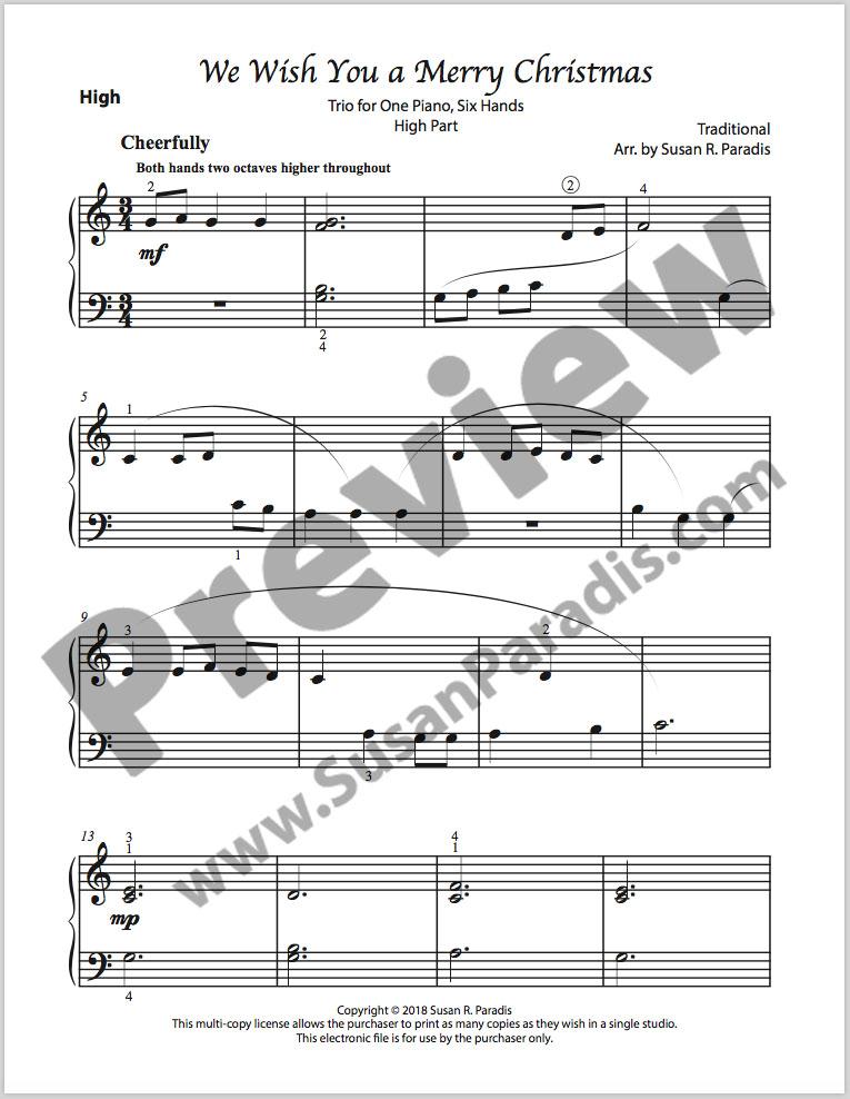 We Wish You A Merry Christmas Piano.We Wish You A Merry Christmas Trio