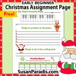 Christmas assignment page for beginners