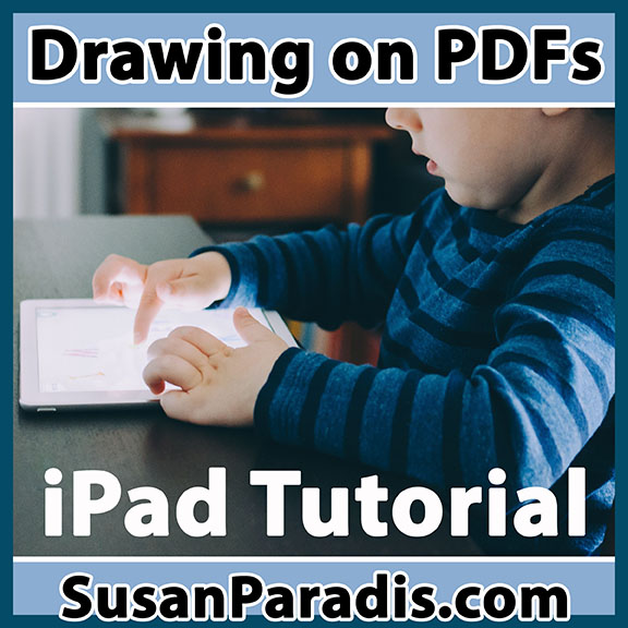 This tutorial shows how to use your iPad to download and markup the free material I post on my website.