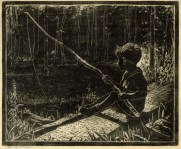 Gardiner | Boy Fishing with Willow Pole
