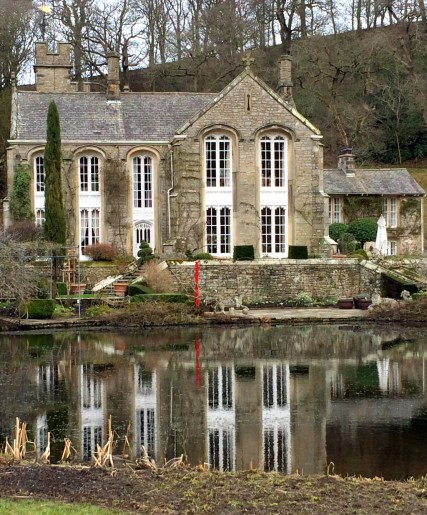 Gresgarth Hall reflected in the lake