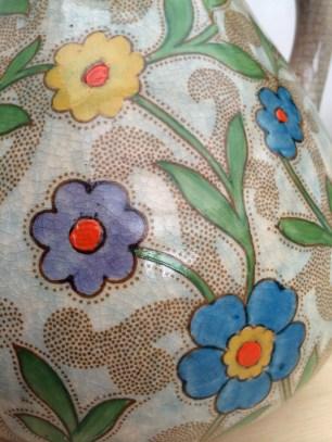 Floral jug-detail