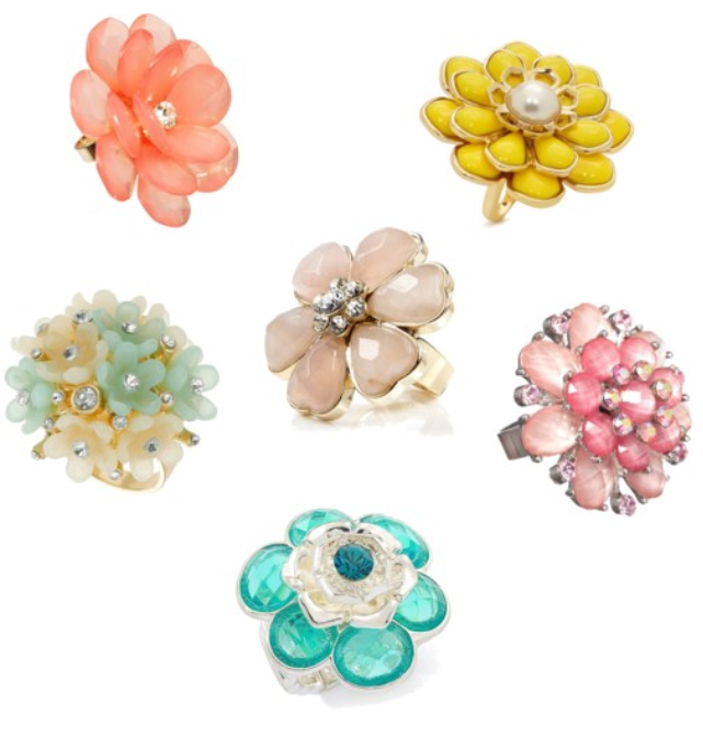 Oversized cocktail rings? Floral never looked so good!