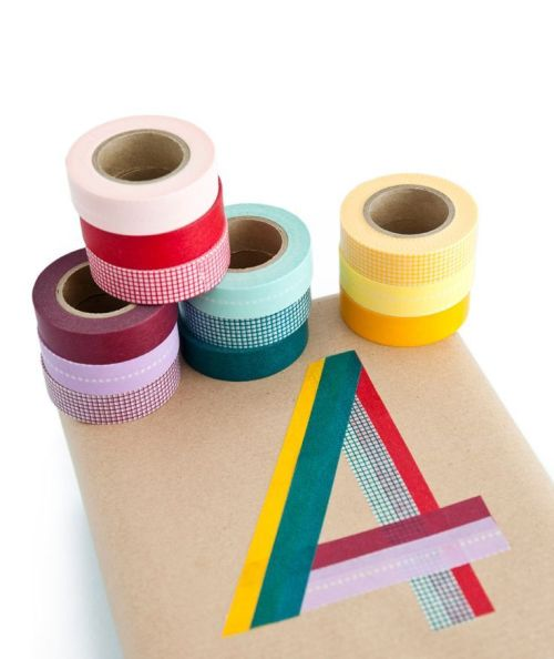 Washi tape gift wrapping and tag ideas and inspiration