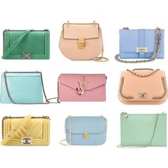 Pretty pastel handbags for spring are a sweet treat!
