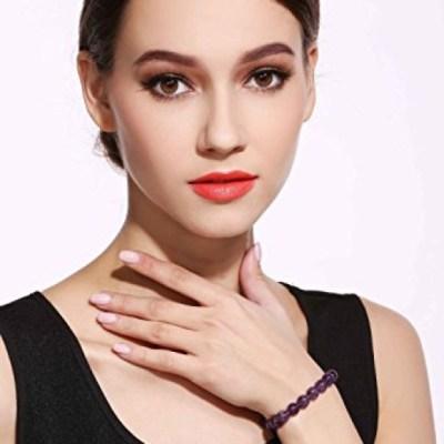 Amethyst Power Bead Bracelet by Kisspat is under $8!