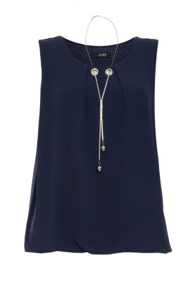 A seasonless navy blous from Quiz Clothing is the definition of office dress code. Wear it with... anything!