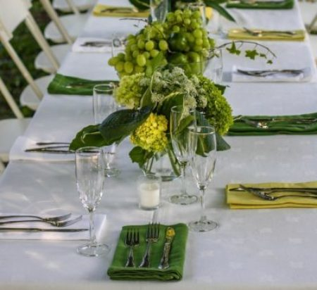 birthday bash table setting