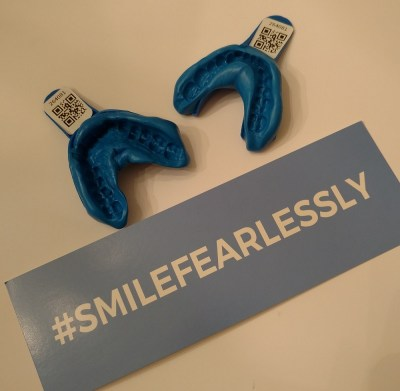 Smile Brilliant's at-home teeth whitening includes custom impressions.