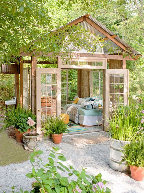 Make your own she shed from salvaged materials