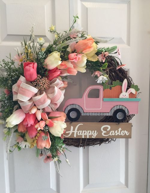 Happy Easter! This wreath makes a charming welcome on any front door!