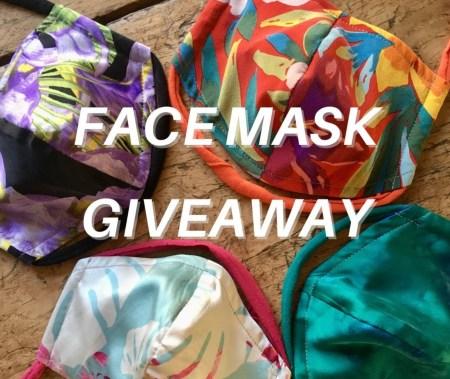 Designer silk facemask giveaway
