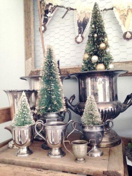Vintage Bottle Brush Trees Inspire Christmas Nostalgia