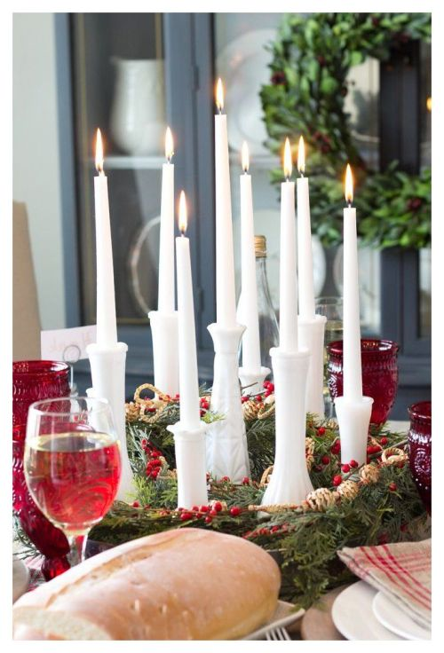 Using Milk Glass in Christmas Decorating