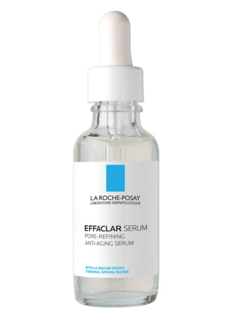 The new Effaclar Anti Aging Pore Minimizer Face Serum not only helps reduce the look of pores, it also targets fine lines and visibly tightens skin for a smoother, more even look.