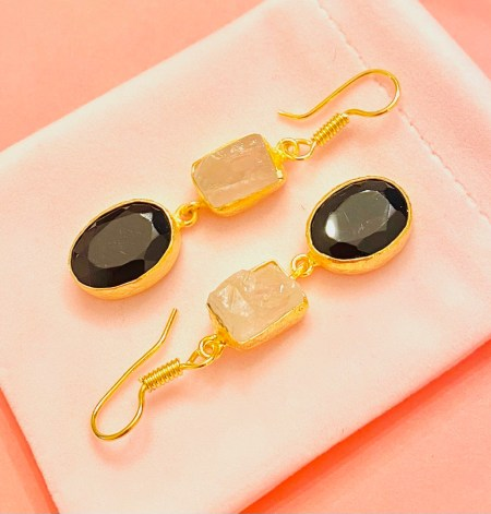 #Giveaway! $48 Onyx and Raw Crystal Earrings from Sitara Collections