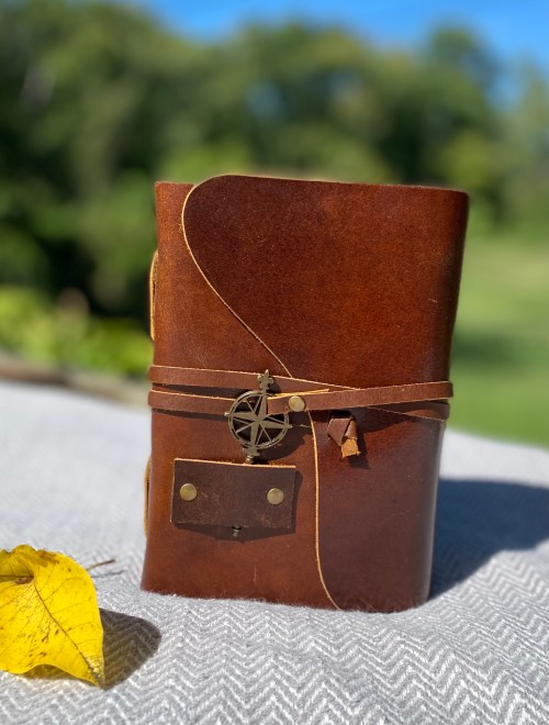 Ready to Travel Again? This Leather Travel Journal from Wanderings is a Must-Have