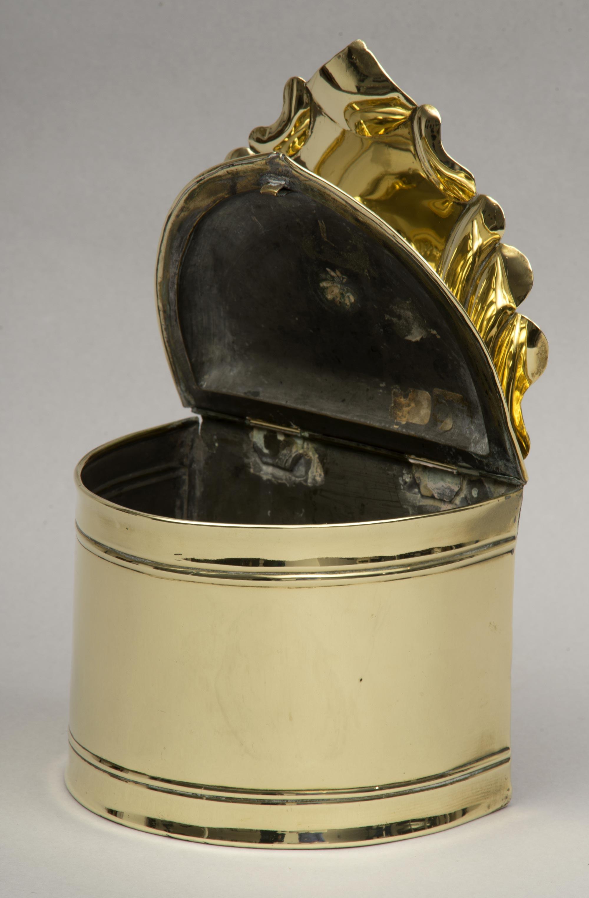 Rare Dutch Brass Salt Box Circa 1790
