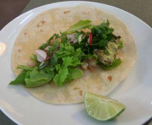 shrimp radish slaw tacos