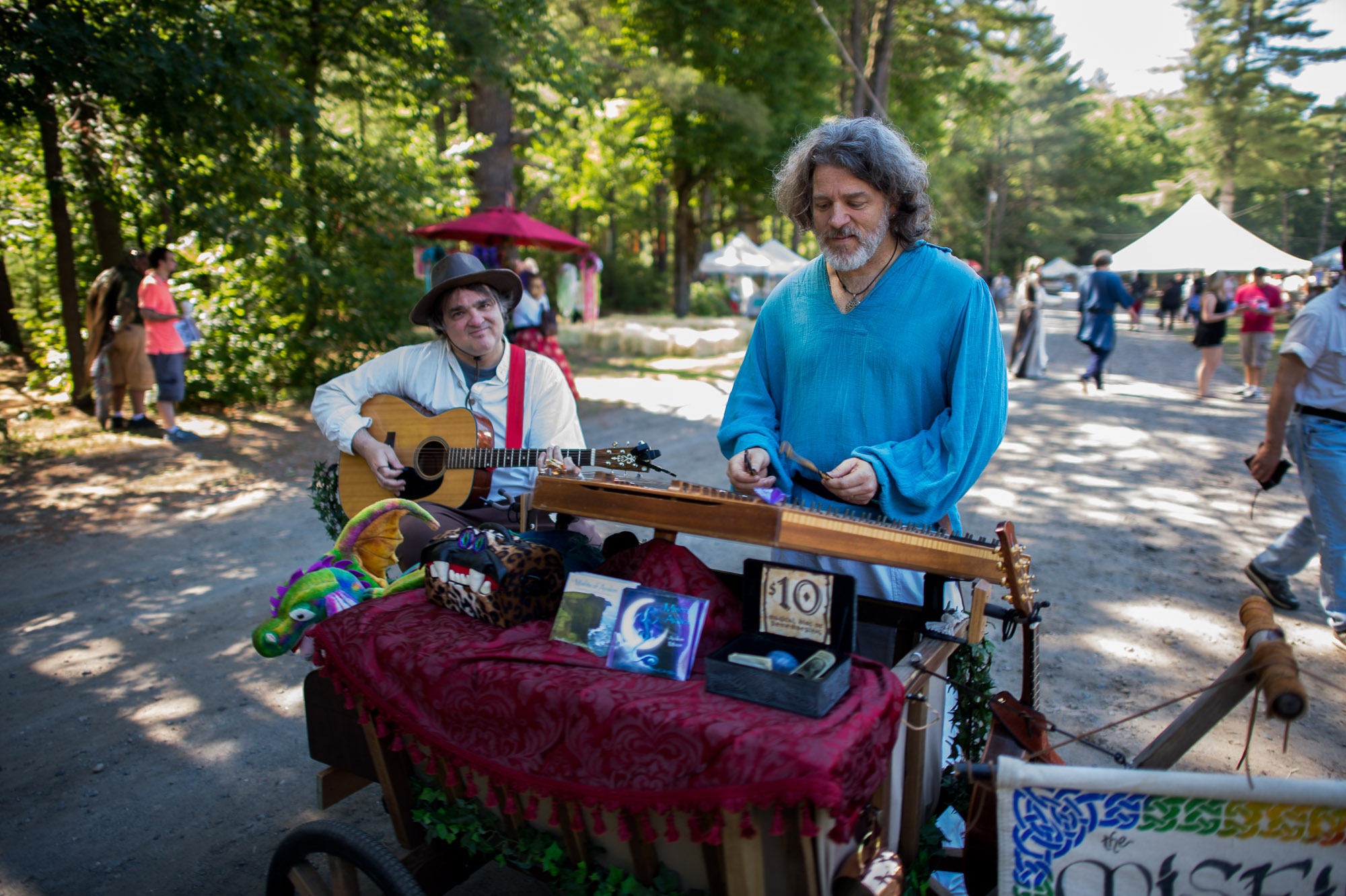 Vendors at a Renaissance Festival