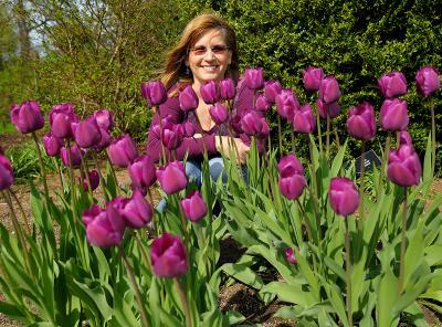 My friend Karen Belisle at the Berkshire Botanical Garden